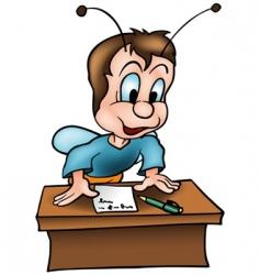 Beetle in school vector