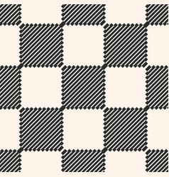 black and white checkered seamless texture vector image