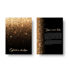 bling background with glittering lights vector image