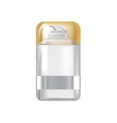 bottle of liquid spray cream with metal casing vector image