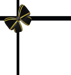 Bow in black and gold color vector