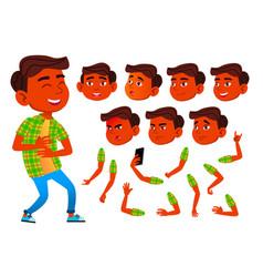 Boy child kid teen indian hindu asian vector