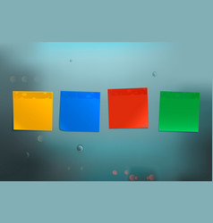 bright stickers on blue background vector image vector image