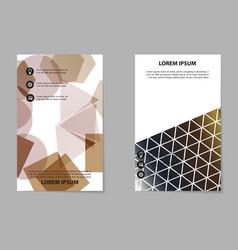 brochure design template flyers report for vector image