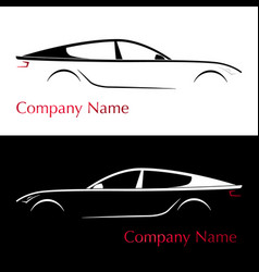 Business card for auto company silhouette car vector