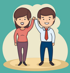 business people holding hands design vector image