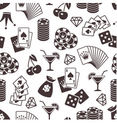 Casino seamless pattern design dice playing vector