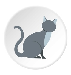 Cat icon flat style vector
