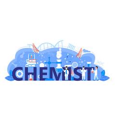 Chemist online learning concept biological vector