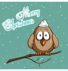 Christmas Greeting Card Bird vector image