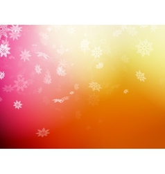 Christmas template on orange background EPS 10 vector image