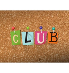 Club concept vector
