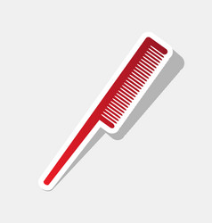 comb sign new year reddish icon with vector image
