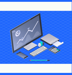 concept business strategyanalysis data and vector image