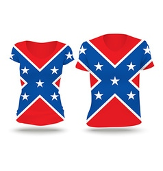 Confederate flag shirt design vector