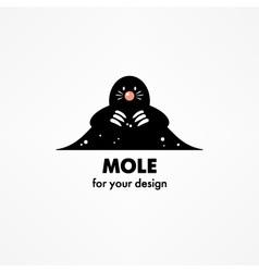 Cute cartoon mole vector image