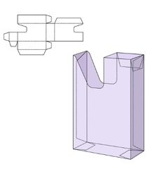 Diecut craft box vector