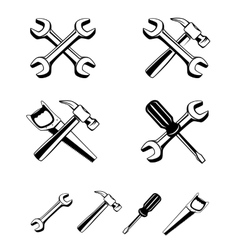 Different tools silhouette icon vector