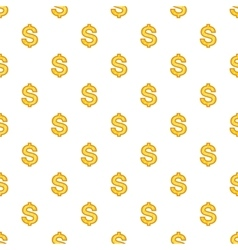 Dollar currency symbol pattern cartoon style vector