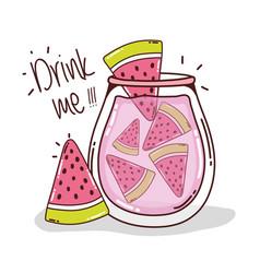 Drink me watermelon juice vector