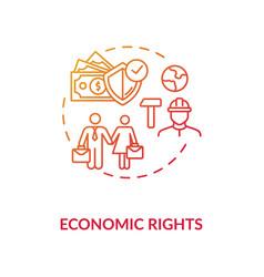 Economic rights concept icon vector