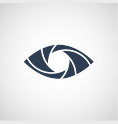 eye shutter logo design template vector image