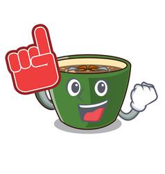 Foam finger indian masala tea isolated on mascot vector