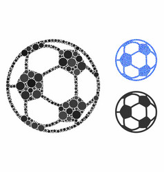 football ball composition icon spheric items vector image