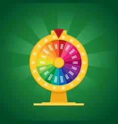 Fortune wheel flat vector