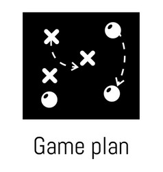 Game plan icon simple black style vector