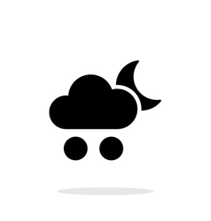 Hail at night weather simple icon on white vector image