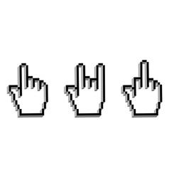 Hand cursor set vector