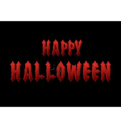 Happy Halloween emblem Gothic bloody letters Logo vector