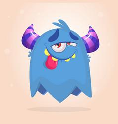 Happy pleased cartoon monster vector