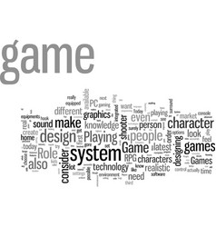 How to design a game system vector