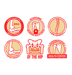 icons for orthopedics and rheumatology vector image