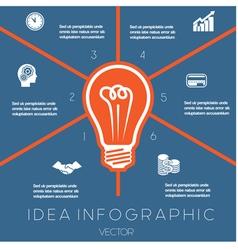 Idea Business Concept Light bulb infographic 6 vector