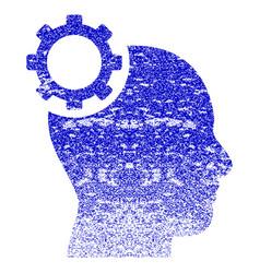 Intellect gear grunge textured icon vector