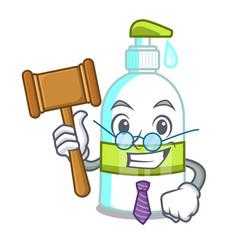 Judge liquid soap in the cartoon shape vector