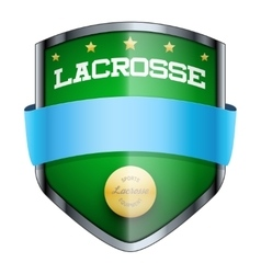 Lacrosse shield badge vector