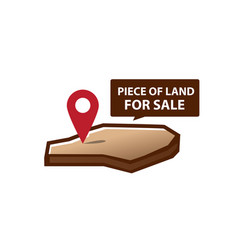 Land for sale icon vector