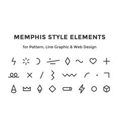 memphis style elements vector image