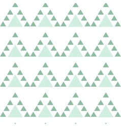 Mint blue triangle seamless pattern vector