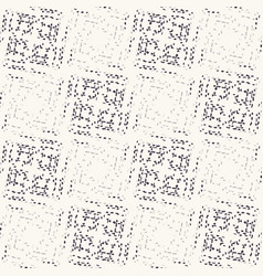 Monochrome broken glitch mosaic texture background vector