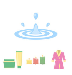 multicolored burning candles a pink robe with a vector image