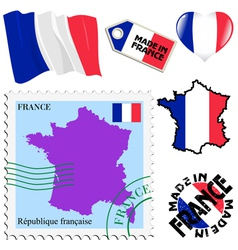 National colours of France vector