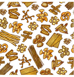 Pasta seamless pattern background vector