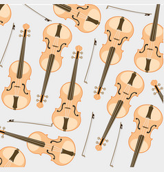 pattern from violin and joining vector image