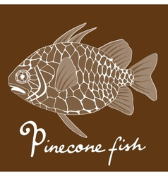 Pinecone fish vector
