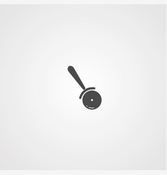 pizza cutter icon sign symbol vector image
